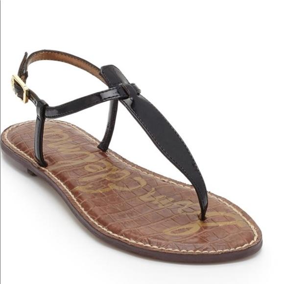 63bc494c7cec New Sam Edelman Black Patent Leather Gigi Sandals